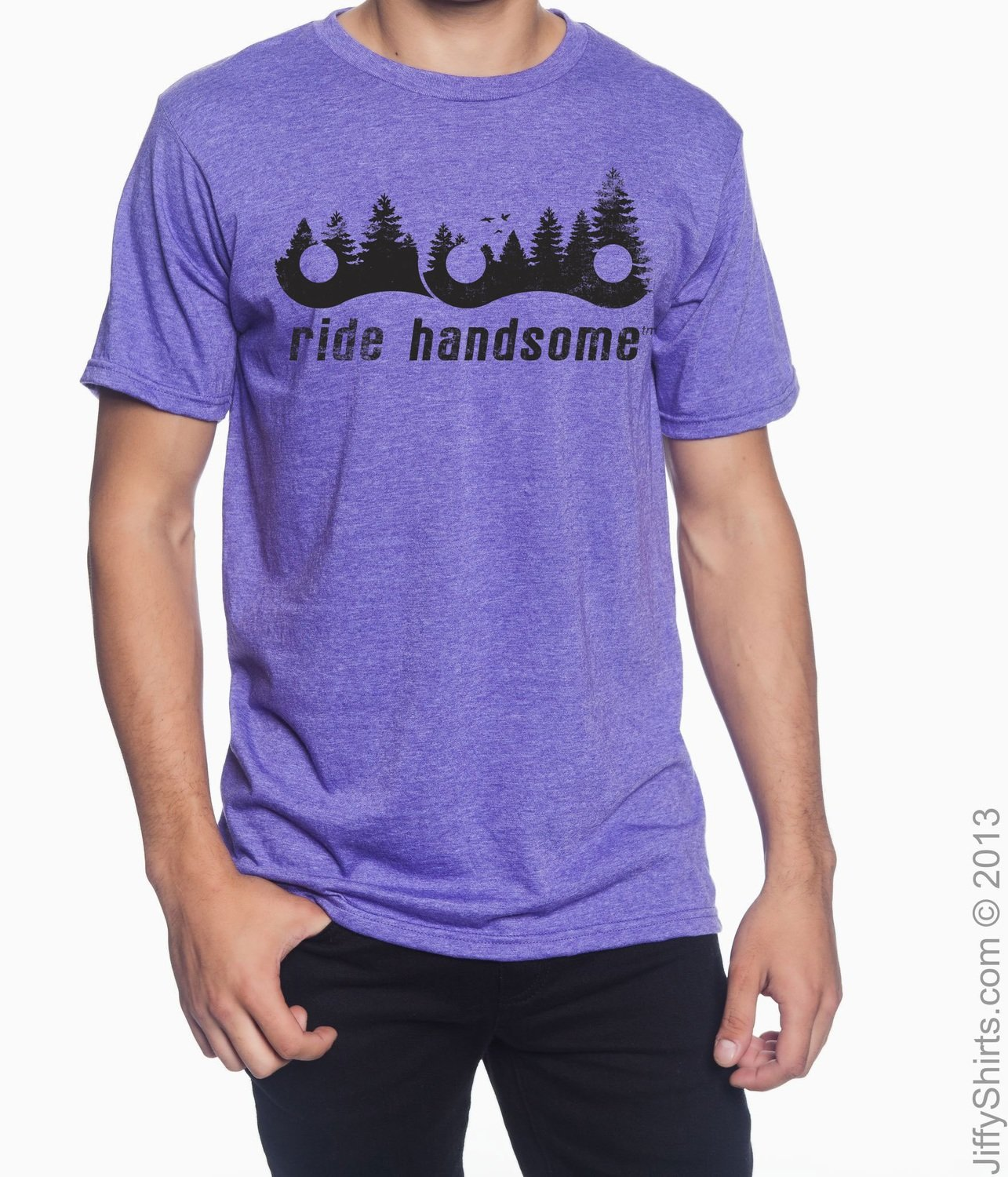 Ride Handsome Forest Tee - Heather Purple
