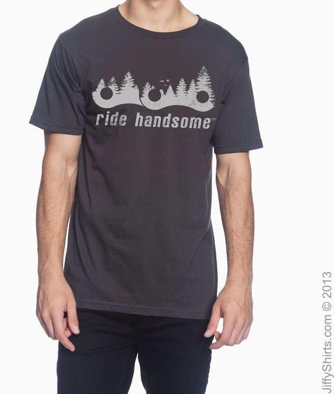 Ride Handsome Forest Tee - Smoke Grey