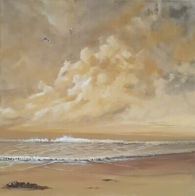 On Golden Sands 61 x 61 cm