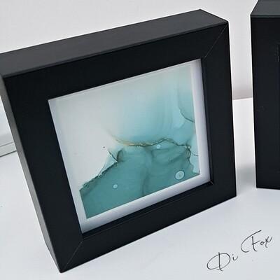 Mini ink original abstract - 10 x 10 cm ( 4x 4 inch )