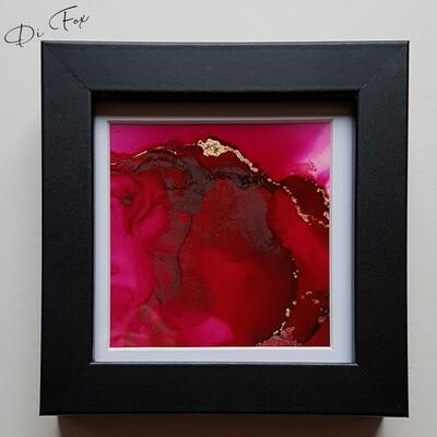 Mini original abstract 10 x 10 cm (4 x 4 inch)