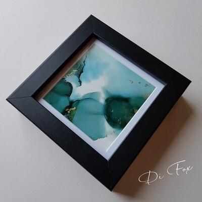 Miniature original art 10 x 10 cm (4 x 4 inch)
