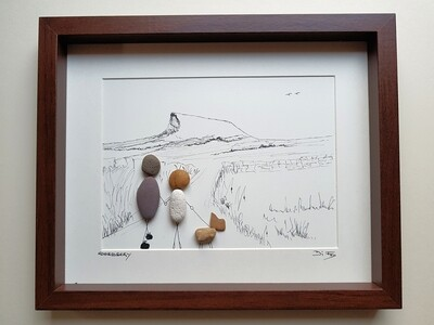 Roseberry Topping Pebble art picture
