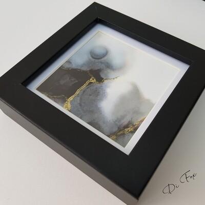Mini original ink art 10 x 10 cm (4 x 4 inch)