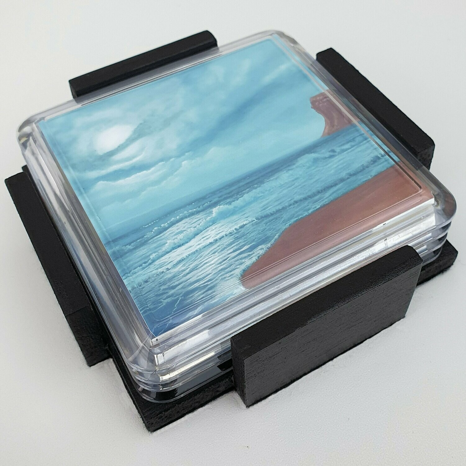 Seascape drinks coasters