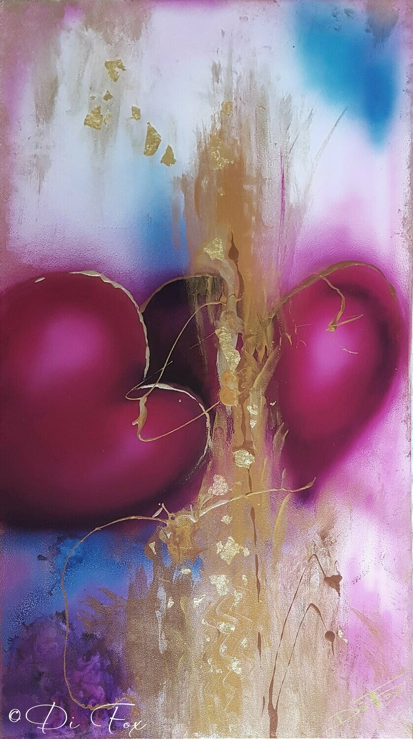 Two Hearts One Love 40 x 71 cm