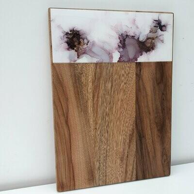 Aubergine purple wooden cheese board