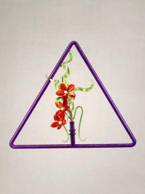 Triangular Window Pendant - Purple