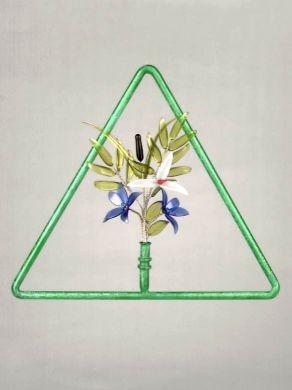 Triangular Window Pendant - Green