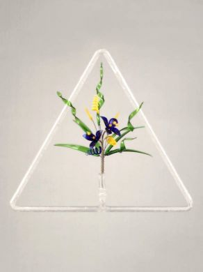 Triangular Window Pendant - White