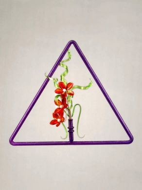 Triangular Window Pendant - Purple