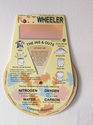Rottwheeler - educational dial (included with each compost bin purchase)