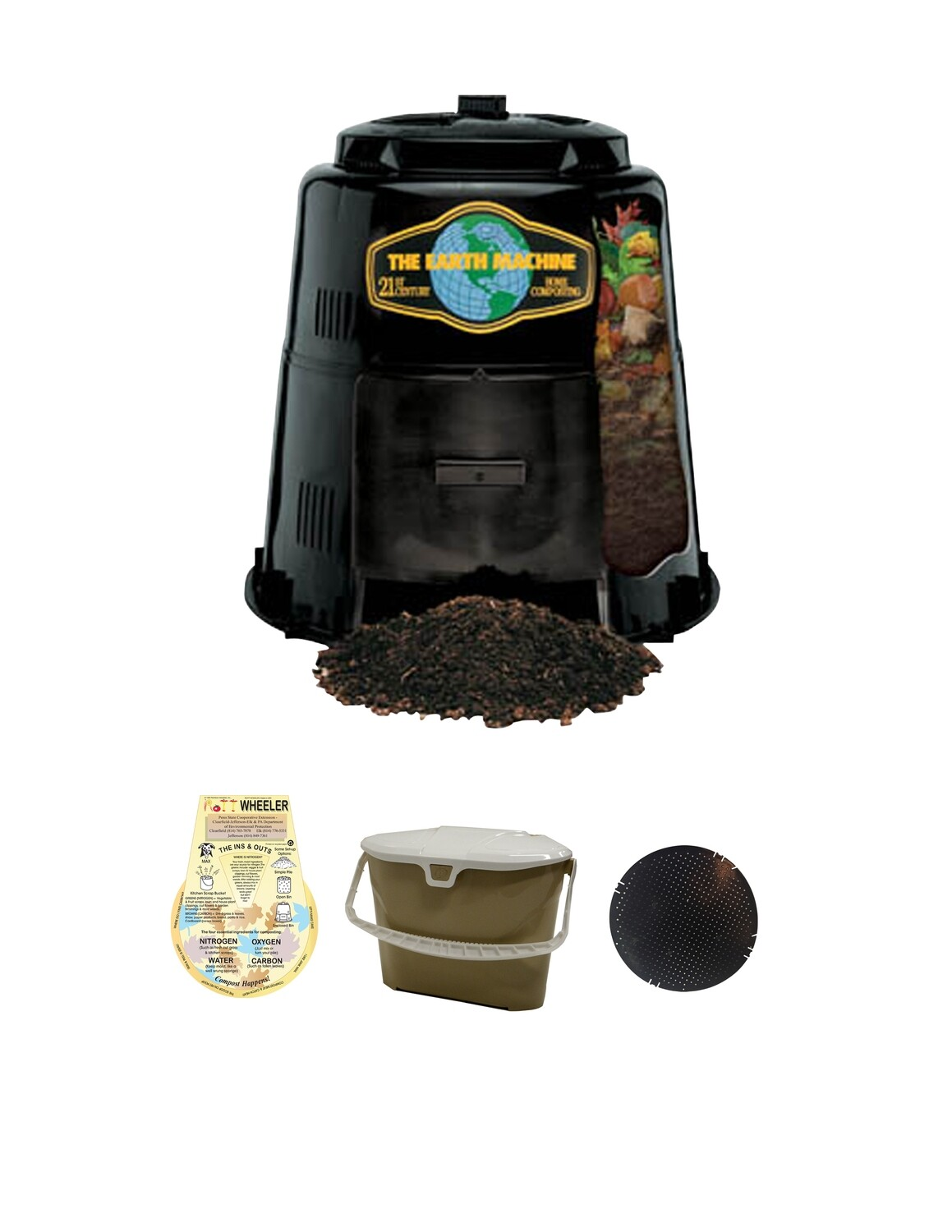 KIT 3: Includes the Earth Machine, Rottwheeler, Kitchen Collector & Rodent Screen