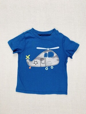 Helicopter Blue First Impressions Shirt, 18M
