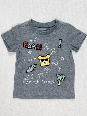 Roar Jungle Friend Grey First Impressions Shirt, 18M