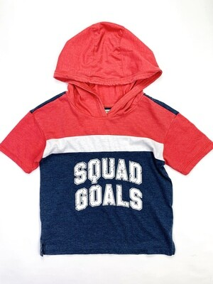 Squad Goals Red White Blue No Comment Shirt, 10/12
