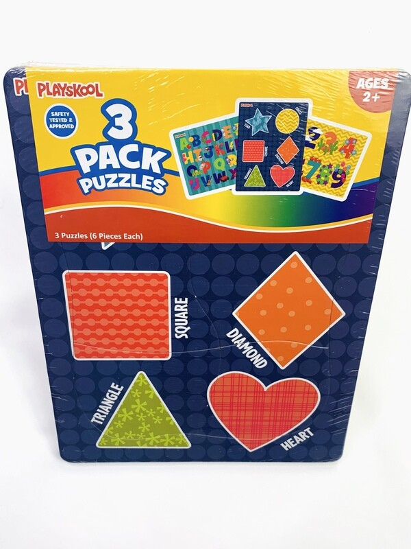 New Playskool 3-Pack Educational Puzzles