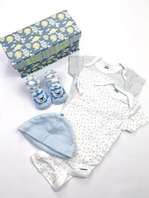 Blue Lion Socks, Bodysuits & Hat Gift Set, 0-3M