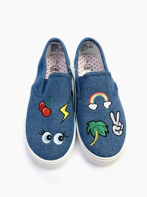 New Jean Patches Wonder Nation Slip-on Sneakers, 3