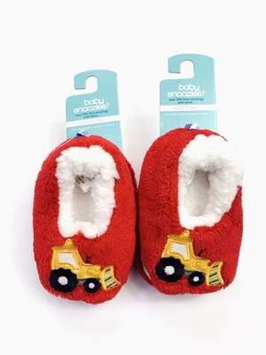 Red Dump Truck Baby Snoozies! Bootie Slippers, 0-3M