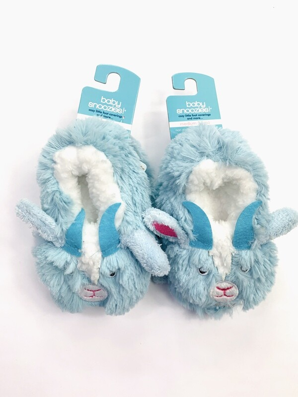Blue Goat Baby Snoozies! Bootie Slippers, 3-6M
