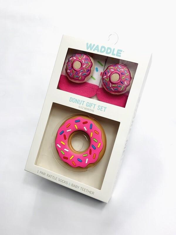 Waddle Donut Rattle Socks & Teether Set