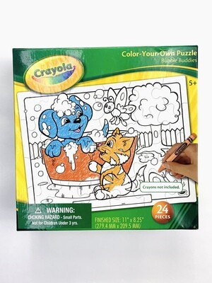New Color-Your-Own Crayola Puzzle 24Pc