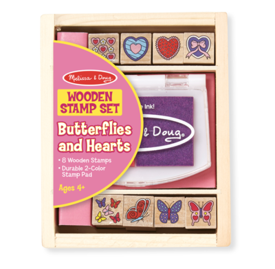 Butterfly and Hearts Stamp Set Melissa & Doug