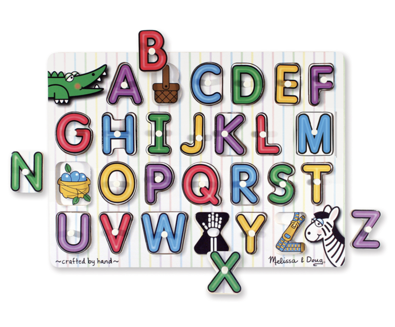 See-Inside Alphabet Peg Puzzle Melissa & Doug