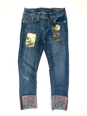 New Vigoss Embroidered Flowers Jean Pants, 7