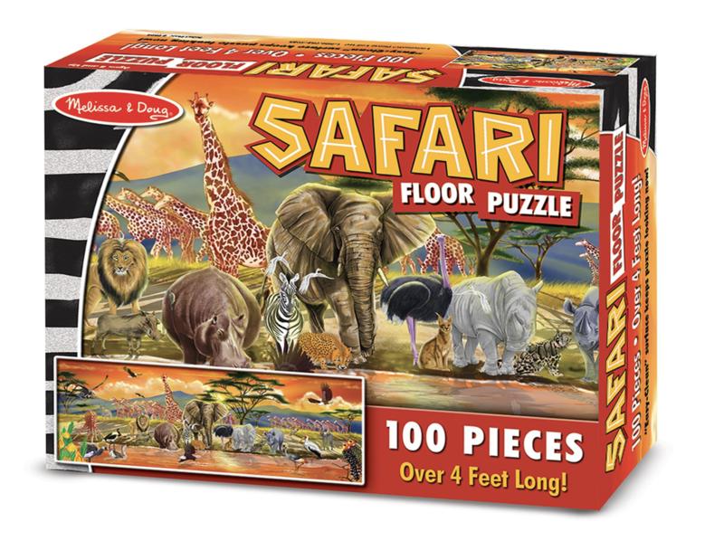 Safari 100pc Floor Puzzle Melissa & Doug