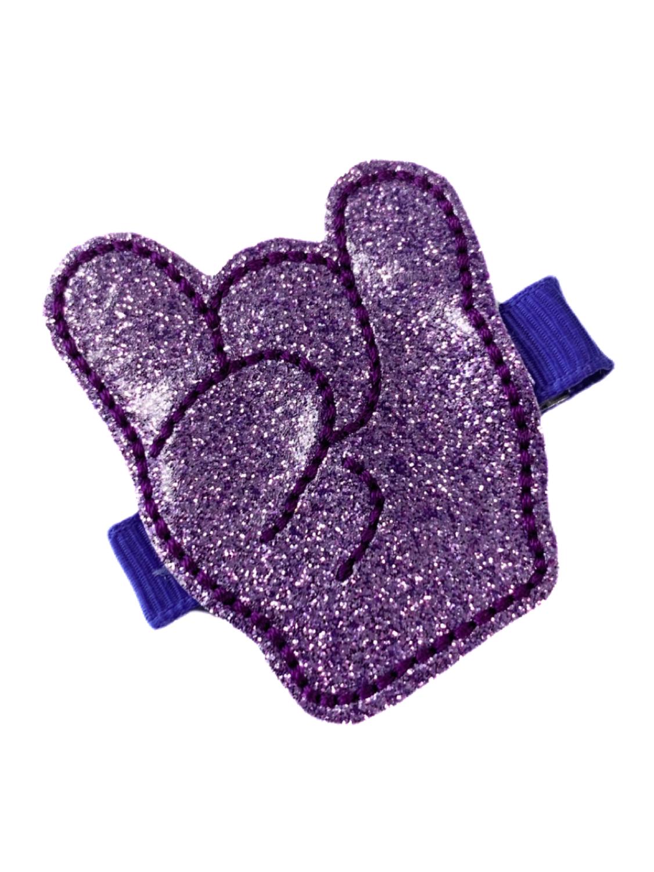 Purple Trolls Felt Hair Clip