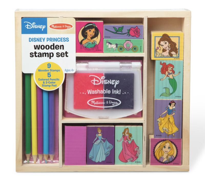 Disney Princess Wooden Stamp Melissa & Doug Set