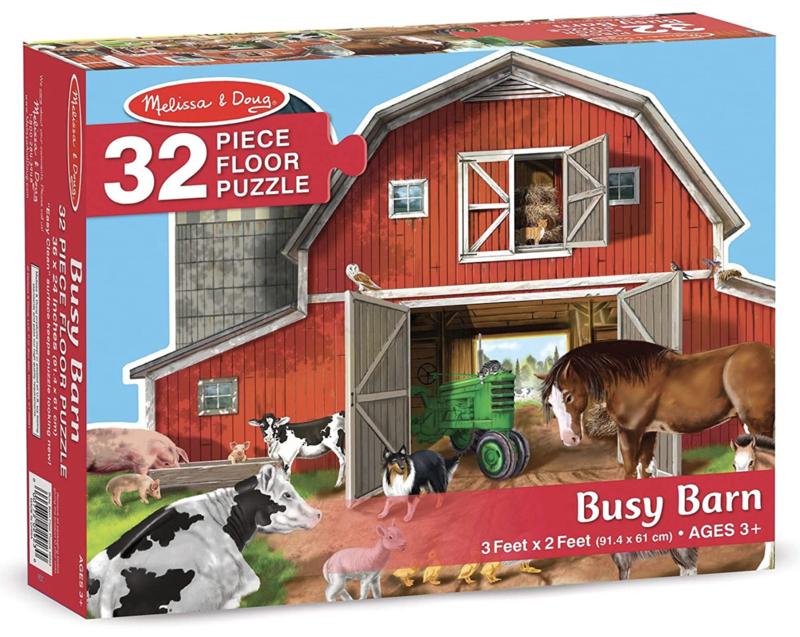 Busy Barn Shaped Melissa & Doug 32Pc Floor Puzzle