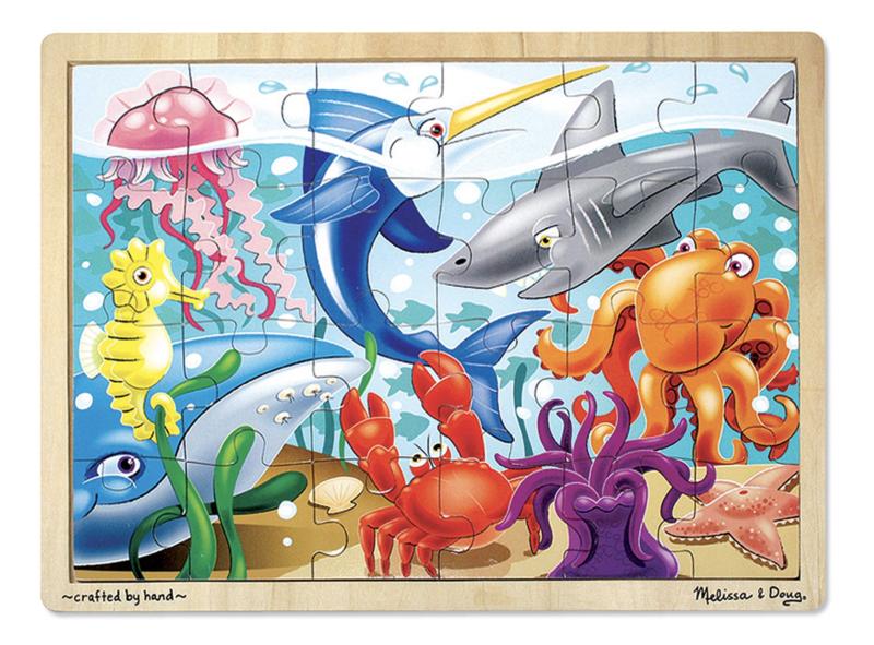 Under the Sea Jigsaw 24Pc Melissa & Doug Puzzle