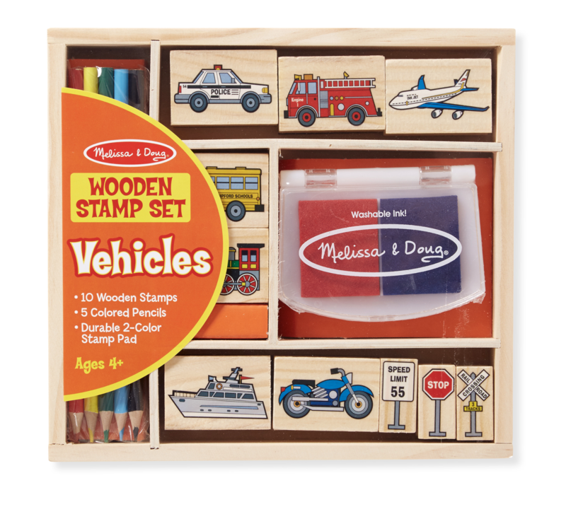 Vehicle Melissa & Doug Stamp Set