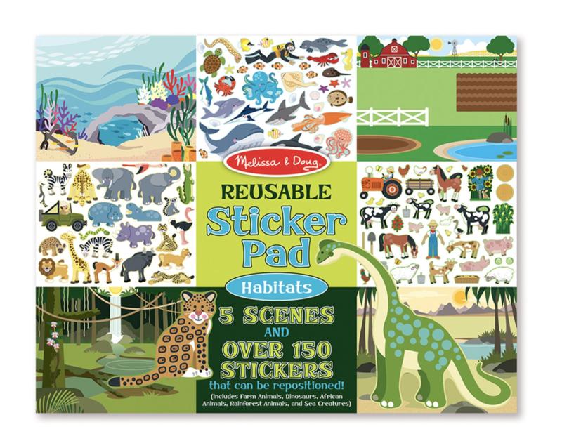 Habitats Reusable Sticker Pad Melissa & Doug