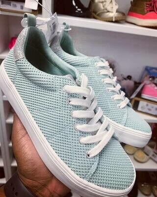 New Mint Lace Up Old Navy Sneakers, Big Kids 2