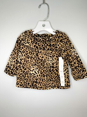 New Leopard Print Fleece Koala Kids Shirt, 6M