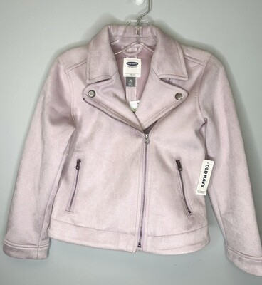New Light Purple Suede Old Navy Moto Jacket, 6/7