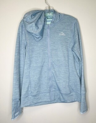 New Light Slate LL Bean Tech Hoodie Jacket, 14/16