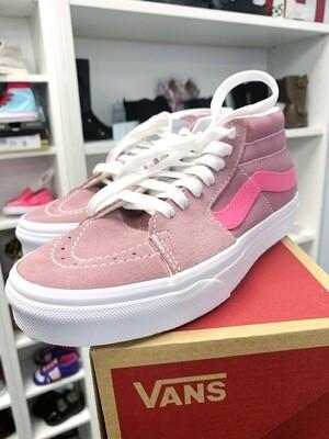 New Suede Rose Pink Mid Van Sneakers, W5