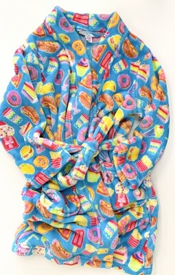 Blue Food Emojis Candy Pink Robe, 4/5