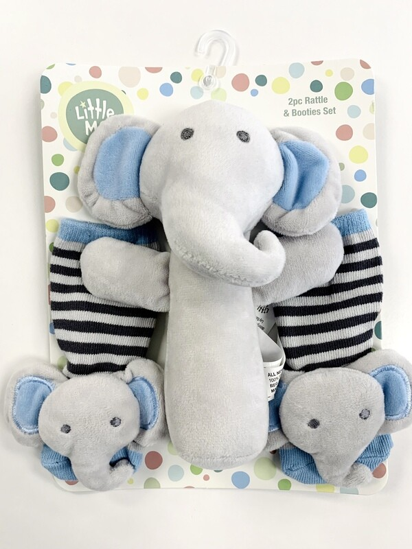 New Little Me Elephant Rattle Booties Set