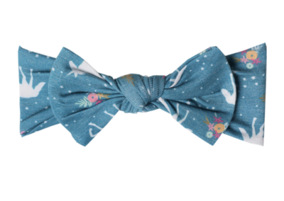 Whimsy Headband Bow Copper Pearl