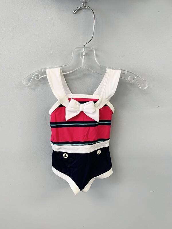 New Pink Navy Janie & Jack Swimsuit, 3/6M