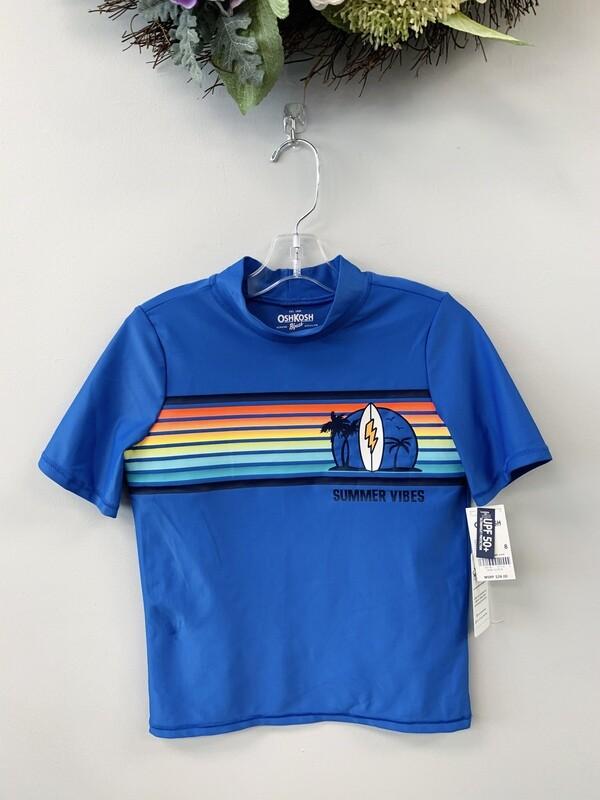 New Blue Summer Vibes OshKosh Swim Shirt, 8