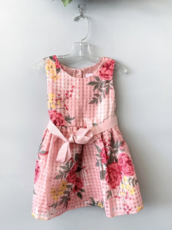 New Light Rose Floral Children's Place Dress, 3T