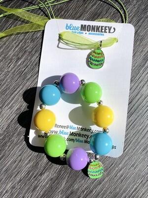 Lime Chunky Bracelet & Necklace Easter Set
