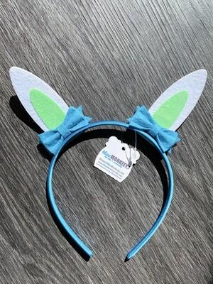 Blue Lime Easter Ears Headband